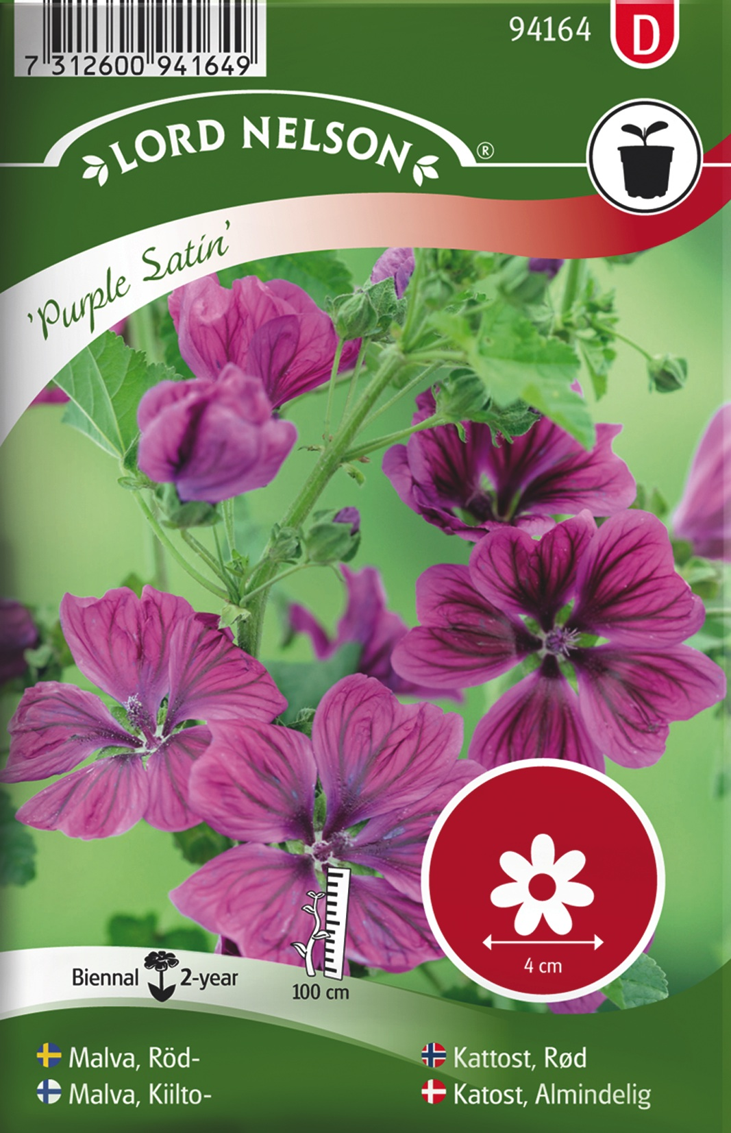Malva, kiilto-, purple satin